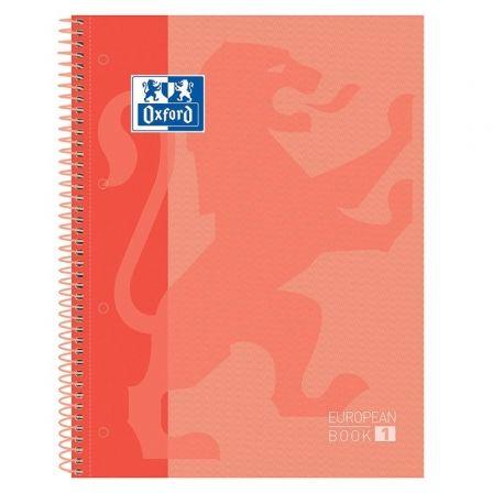 Cuaderno con Espiral Cuadriculado Oxford European Book 1 Classic 400119096/ A4+/ 80 Hojas/ Naranja Melocotón