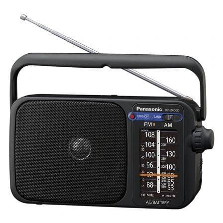 Radio Portátil Panasonic RF-2400DEG-K/ Negra