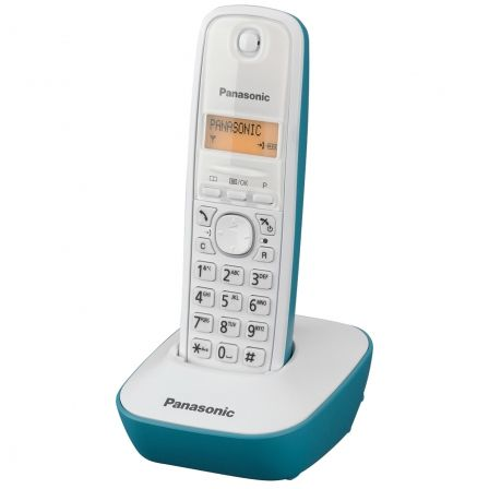 Teléfono Inalámbrico Panasonic KX-TG1611/ Blanco/ Azul