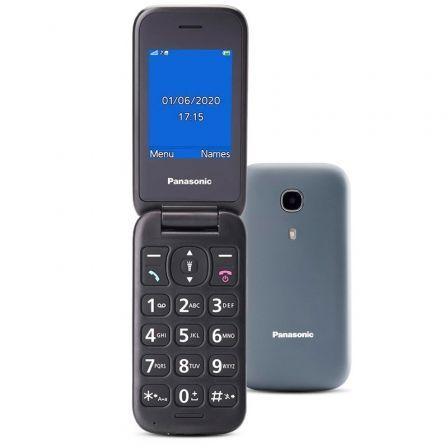 Teléfono Móvil Panasonic KX-TU400EXG para Personas Mayores/ Gris