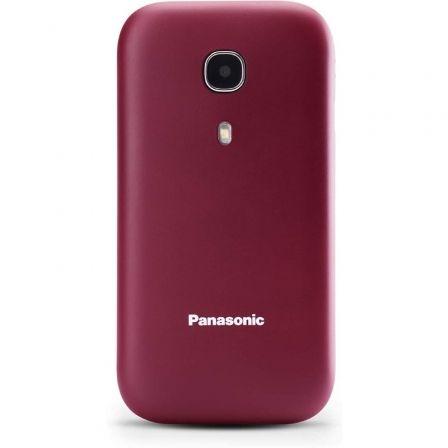 Teléfono Móvil Panasonic KX-TU400EXR para Personas Mayores/ Rojo Granate