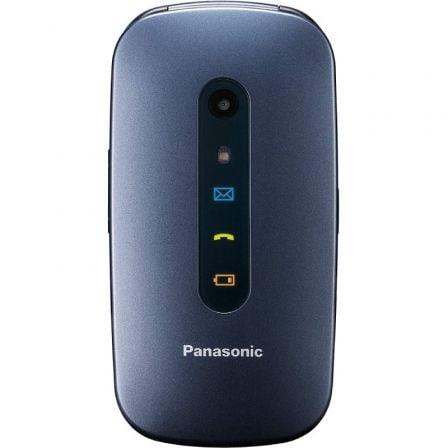 Teléfono Móvil Panasonic KX-TU456EXCE para Personas Mayores/ Azul