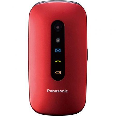 Teléfono Móvil Panasonic KX-TU456EXRE para Personas Mayores/ Rojo