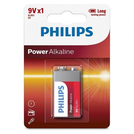 Pila Alcalina Philips 6LR61P1B/05/ 9V