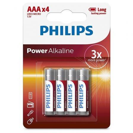 Pack de 4 Pilas AAA Philips LR03P4B/05/ 1.5V/ Alcalinas