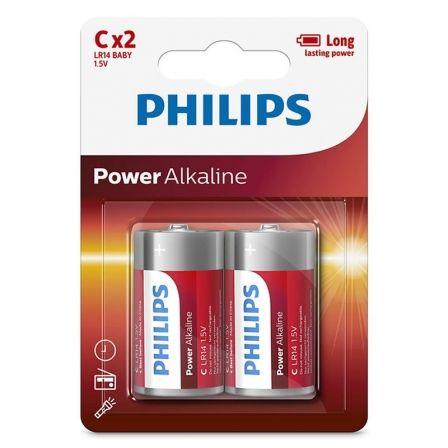Pack de 2 Pilas C Philips LR14P2B/05/ 1.5V/ Alcalinas