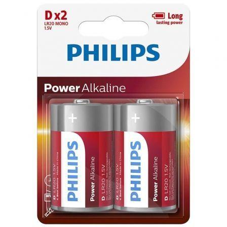 Pack de 2 Pilas D Philips LR20P2B/05/ 1.5V/ Alcalinas