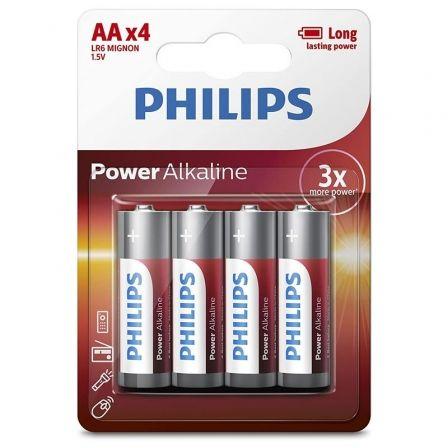 Pack de 4 Pilas AA Philips LR6P4B/05/ 1.5V/ Alcalinas