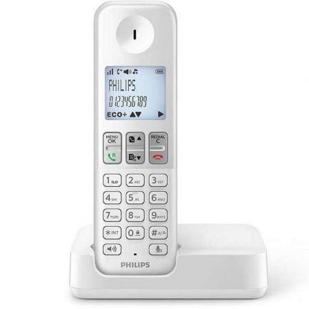 Teléfono Inalámbrico Philips D2501W/34/ Blanco