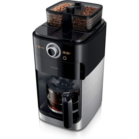 CAFETERA PHILIPS GRIND & BREW HD7769/00 - 1000W - DEPÓSITO 1.2L - 2*DEPÓSITOS PARA MOLINO - HASTA 12 TAZAS - INCLUYE MOLINILLO - ACERO INOX
