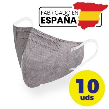 Mascarillas FFP2 Pintado And Co M98/ Pack 10 uds en bolsa individual/ Gris