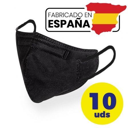 Mascarillas FFP2 Pintado And Co M98/ Pack 10 uds en bolsa individual/ Negra