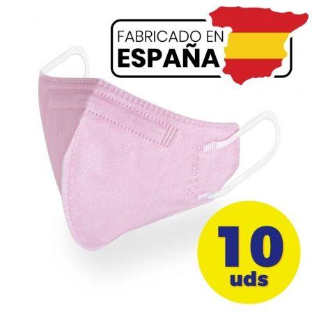 Mascarillas FFP2 Pintado And Co M98/ Pack 10 uds en bolsa individual/ Rosa