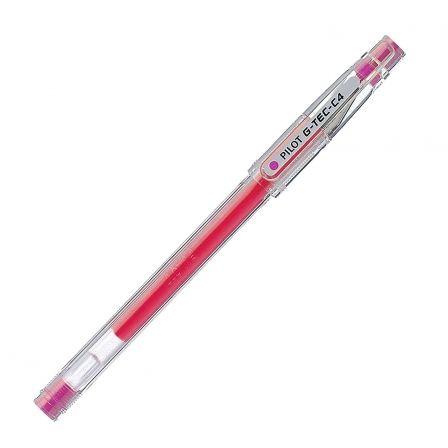 Bolígrafo de Tinta de Gel Pilot G-TEC-C4 NG4RS/ Rosa