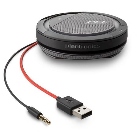 Altavoz Portátil para Conferencias Plantronics Calisto 5200/ Jack 3.5/ USB/ Negro