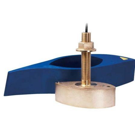 Transductor Raymarine B275LH/ Pasacascos/ Bronce/ 1000W/ para Sonda CHIRP