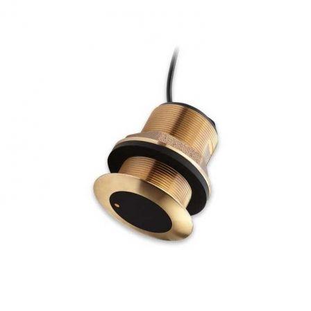 Transductor CPT-S de Bronce Raymarine/ Pasacascos/ Cónico/ CHIRP Alto/ Inclinación 0º