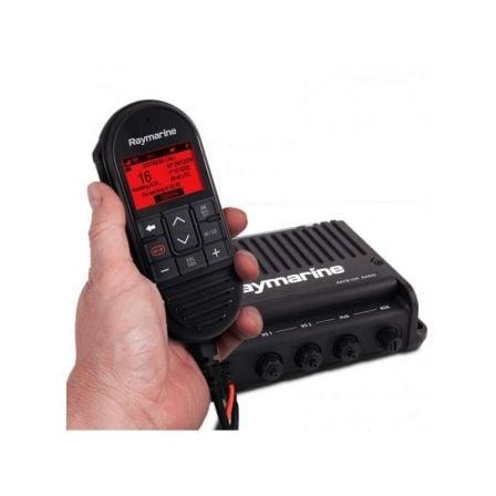 Radio VHF Raymarine Ray90/ Caja Negra con Microteléfono/ Altavoz y Cables