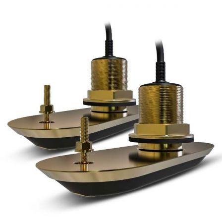 Pack 2 Transductores Raymarine RV-212/ Pasacascos/ Inclinación 12º/ Babor/ Estribor