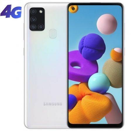 "SMARTPHONE MÓVIL SAMSUNG GALAXY A21S WHITE - 6.5""/16.5CM - CAM (48+8+2+2)/13MP - OC - 32GB - 3GB - ANDROID - 4G - DUAL SIM - BAT 5000MAH."