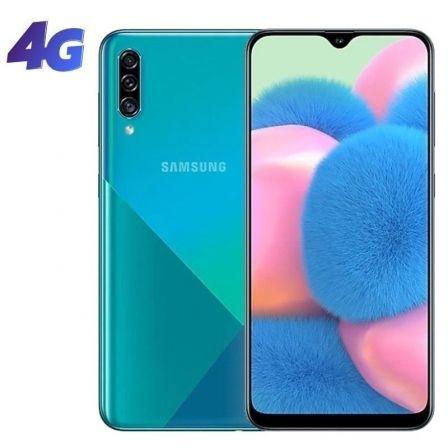 "SMARTPHONE MÓVIL SAMSUNG GALAXY A30S PRISM CRUSH GREEN - 6.4""/16.25CM - CAM (25+5+8)MP/16MP - OC (1.8GHZ+1.6GHZ) - 128GB - 4GB RAM - ANDROID - 4G -DS."