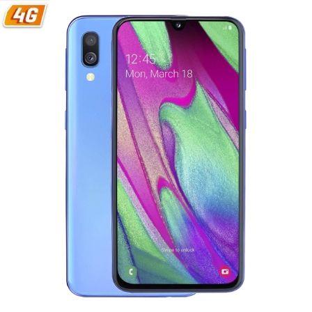 SMARTPHONE MÓVIL SAMSUNG GALAXY A40 BLUE - 5.9'/14.9CM - CAM (16+5)/25MP - OC (1.8GHZ+1.6GHZ) - 64GB - 4GB RAM - ANDROID - 4G - DUAL SIM - BAT 3100MA
