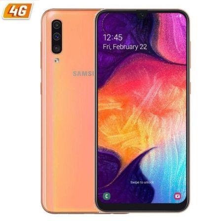 SMARTPHONE MÓVIL SAMSUNG GALAXY A50 CORAL - 6.4'/16.2CM - CAM (25+5+8)/25MP - EXYNOS 9610 OCTA - 128GB - 4GB RAM - ANDROID - 4G - DUAL SIM - BAT4000MH