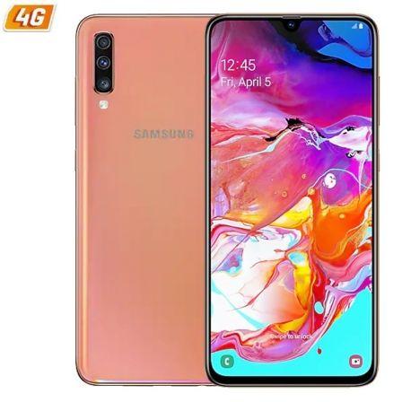 SMARTPHONE MÓVIL SAMSUNG GALAXY A70 CORAL - 6.7'/17CM - CAM (32+5+8)MP/32MP - OC (2GHZ+1.7GHZ) - 128GB - 6GB RAM - ANDROID - 4G - DUAL SIM - 4500MAH