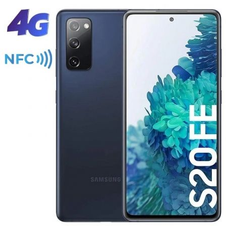 "SMARTPHONE MÓVIL SAMSUNG GALAXY S20 FE CLOUD NAVY - 6.5""/16.5CM - CAM (12+12+8)/32MP - OC - 128GB - 6GB RAM - ANDROID - DUAL SIM - BAT 4500M"