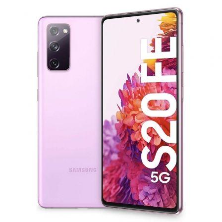 "SMARTPHONE MÓVIL SAMSUNG GALAXY S20 FE 5G CLOUD LAVENDER - 6.5""/16.5CM - CAM (12+12+8)/32MP - OC - 128GB - 6GB RAM - ANDROID - DUAL SIM - BAT 4500M"