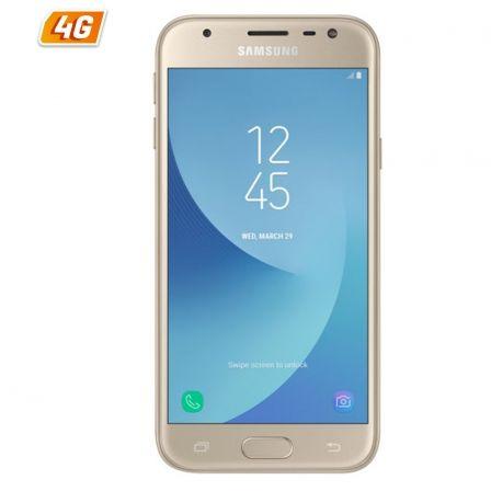 SMARTPHONE MÓVIL SAMSUNG GALAXY J330 J3 2017 ORO - 5'/12.7CM - CAM 13/5MPX - QC 1.4GHZ - 16GB - 2GB RAM - ANDROID - 4G - WIFI - BT - DUAL SIM