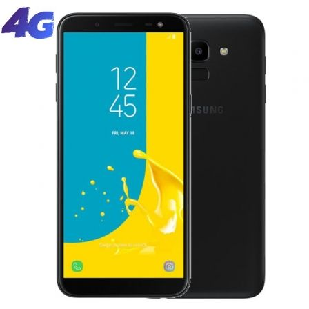 SMARTPHONE MÓVIL SAMSUNG GALAXY J6 BLACK - 5.6'/14.25CM HD+ - CAM 13/8MP - OC 1.6GHZ - 32GB - 3GB RAM - 4G - DUAL SIM - ANDROID - BAT 3000MAH