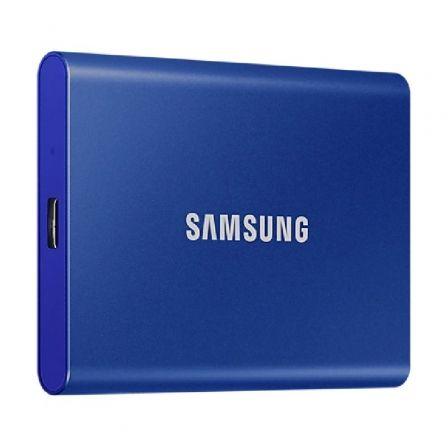 Disco Externo SSD Samsung Portable T7 500GB/ USB 3.2/ Azul