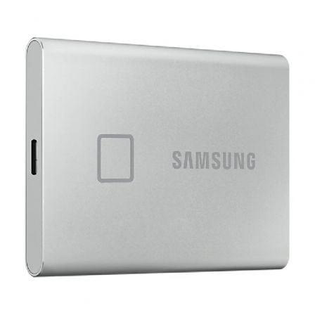 Disco Externo SSD Samsung Portable T7 Touch 500GB/ USB 3.2/ Plata
