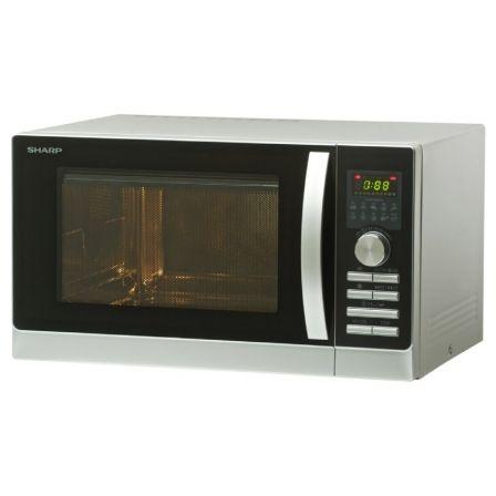 Microondas Sharp R843INW/ 900W/ Capacidad 25L/ Plata