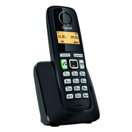 TELÉFONO DECT GIGASET A220 NEGRO - IDENTIFICACIÓN DE LLAMADA - 80 MEMORIAS - PANTALLA ILUMINADA - MANOS LIBRES - 2X BATERÍAS AAA