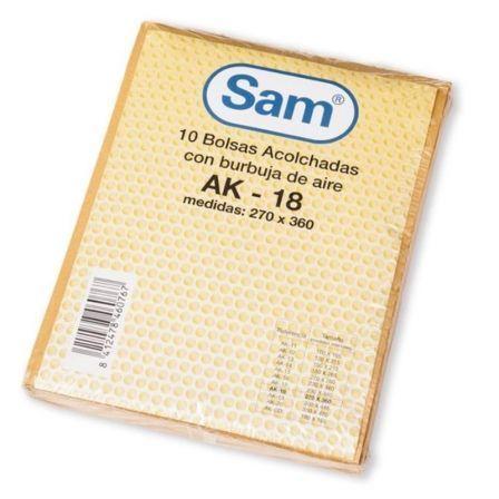 Bolsa Acolchada Sam AK-18/ 270 x 360mm/ 10 unidades