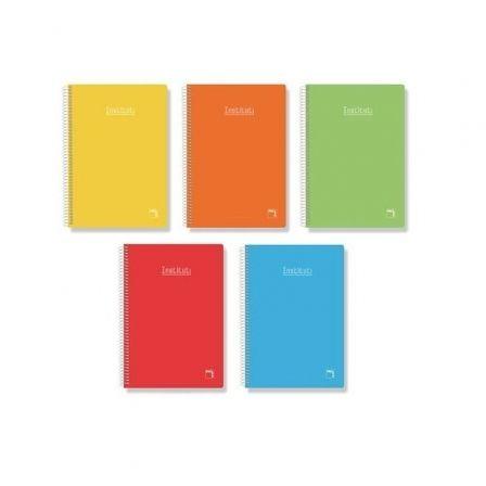Cuadernos con Espiral Pautado 2.5mm Sam Institut 16222/ Folio/ 80 Hojas/ 5 unidades/ Colores Surtidos