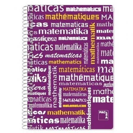 Cuaderno con Espiral Rayado Sam Matemáticas/ Folio/ 80 Hojas