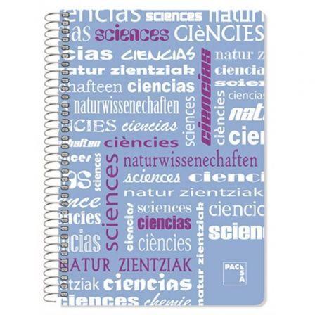 Cuaderno con Espiral Rayado Sam Ciencias/ Folio/ 80 Hojas