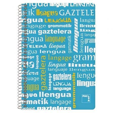 Cuaderno con Espiral Rayado Sam Lengua/ Folio/ 80 Hojas
