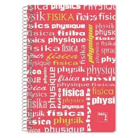 Cuaderno con Espiral Rayado Sam Física/ Folio/ 80 Hojas/ Rojo