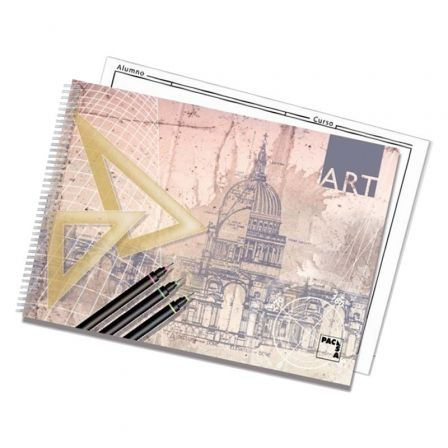 Cuaderno de Dibujo con Espiral Sam ART 18848/ Folio Prolongado/ 20 Hojas/ Con Recuadro