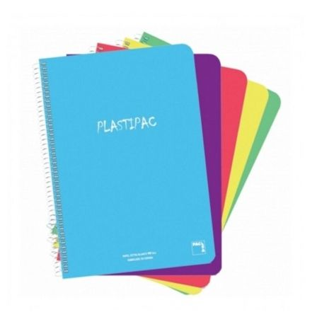 Cuadernos con Espiral Línea Horizontal Sam 16407/ A4/ 80 Hojas/ 5 unidades/ Colores Surtidos