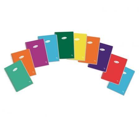 Cuaderno con Espiral Rayado Sam PAC16433/ 8 x 100 x 160mm/ 80 Hojas/ 10 unidades/ Colores Surtidos