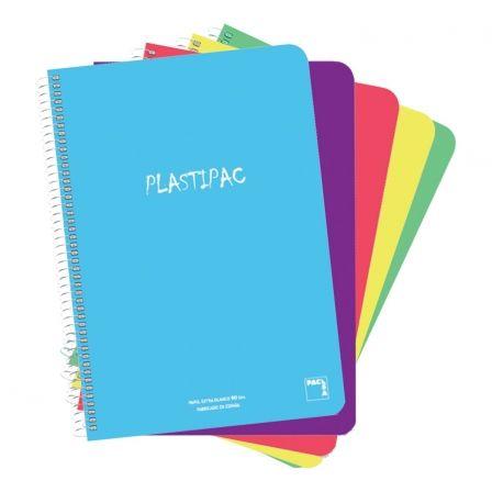 Cuadernos con Espiral Cuadriculado 4mm Sam Plastipac 16467/ 80 Hojas/ 5 unidades/ Colores Surtidos