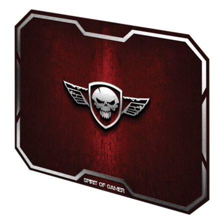 Alfombrilla Spirit of Gamer Winged Skull M/ 296 x 236 x 3mm/ Roja