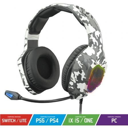 Auriculares Gaming con Micrófono Spirit of Gamer Elite-H50/ Jack 3.5/ Camuflaje Ártico