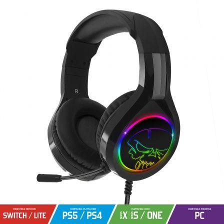 Auriculares Gaming con Micrófono Spirit of Gamer PRO-H8/ Jack 3.5/ USB 2.0