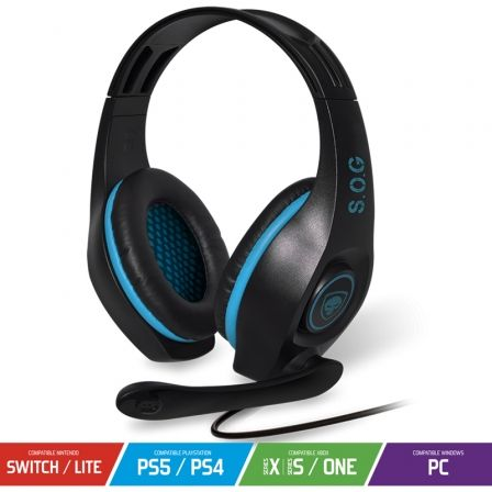 Auriculares Gaming con Micrófono Spirit of Gamer PRO-H5/ Jack 3.5/ Azules
